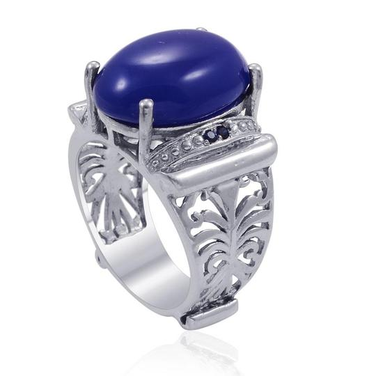 unknown Blue Chalcedony, Blue Sapphire Ring
