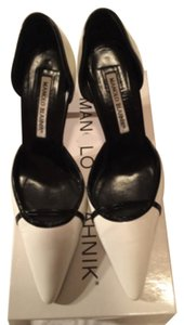 Manolo Blahnik Patent white and black Pumps