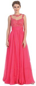Fuchsia, Green Victorian Floral Lace Bust Full Band Waist Length Formal Dress Dress