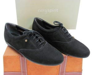 Easy Spirit Leather Size 9.00 Narrow Excellent Condition Black Flats