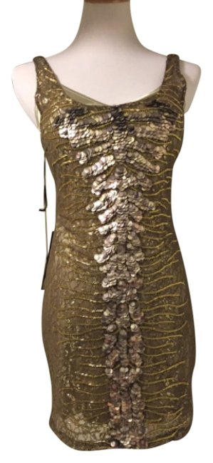 Preload https://img-static.tradesy.com/item/7483378/bebe-gold-new-embellished-lace-knee-length-night-out-dress-size-8-m-0-1-650-650.jpg