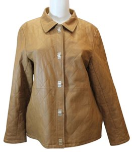 Dialogue Quilted Leather BROWN Jacket