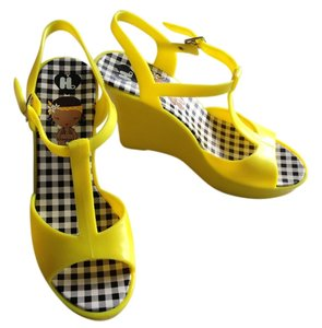 Harajuku Lovers Rubber Yellow Wedges