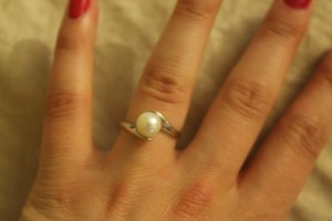 Pearl Factory 14kt White gold ring