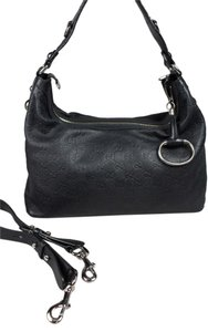 Gucci Leather Italy Embossed Hobo Bag
