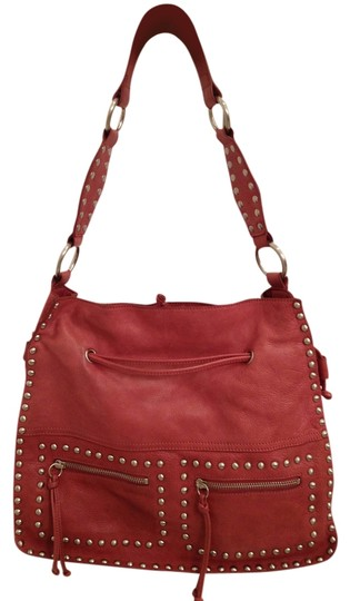 SORIAL New York Leather Grommets Shoulder Bag
