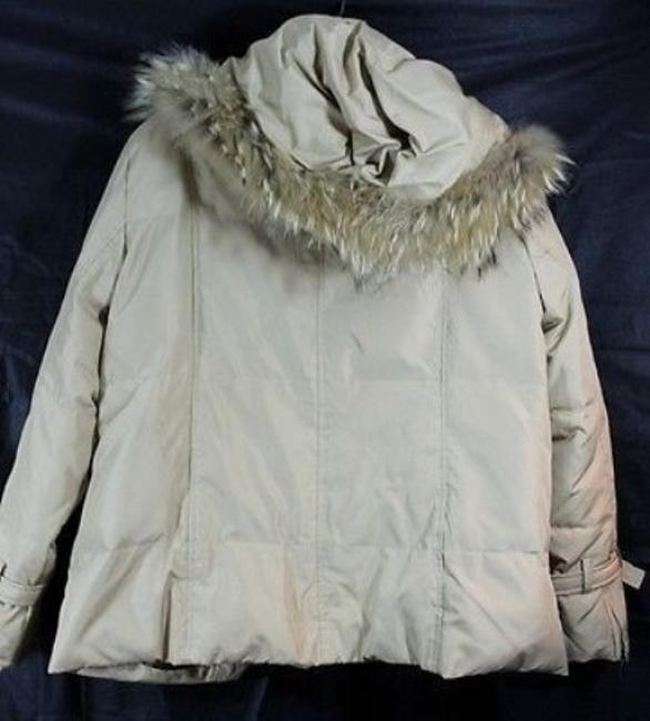 Other Puffed Fur Trim Hooded BROWN Jacket Image 2