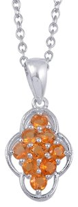 unknown Jalisco Fire Opal Pendant With Chain