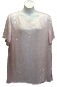 Silhouettes Embellished Party Formal Evening Silk Top