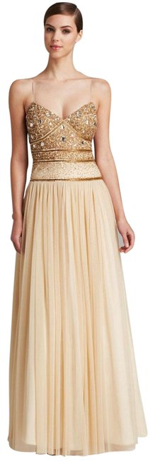 Preload https://img-static.tradesy.com/item/7485886/aidan-mattox-gold-gown-sequin-bodice-open-back-with-tulle-skirt-long-formal-dress-size-12-l-0-2-650-650.jpg