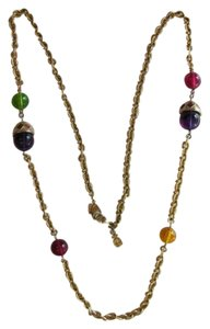 Preload https://item1.tradesy.com/images/lc-lauren-conrad-gold-red-purple-green-yellow-designed-chain-with-beads-necklace-748600-0-0.jpg?width=440&height=440
