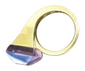Gucci Gucci 18k Gold Amethyst Chiodo Horsebit Nail Cocktail Ring.