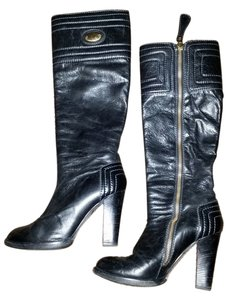 Chloé Knee Chloe Leather Knee High black Boots