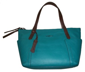 Cole Haan Green Blue Brown Tote in Teal