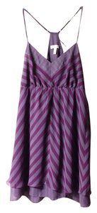 Silence & Noise short dress Purple Racerback Flowy Chevron on Tradesy