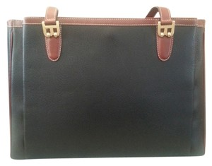 Bally Tote in Black w Brown trimming