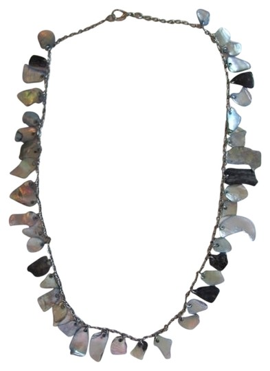 Preload https://item2.tradesy.com/images/silvergray-black-of-pearl-necklace-748686-0-0.jpg?width=440&height=440