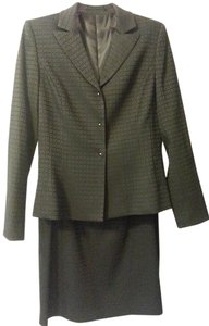 Tahari Tahari 2pc Black Square Blazer & Skirt Suit