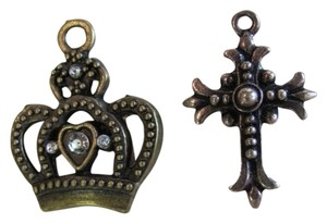 OTHER SET OF 2, CROSS CROWN PENDANTS