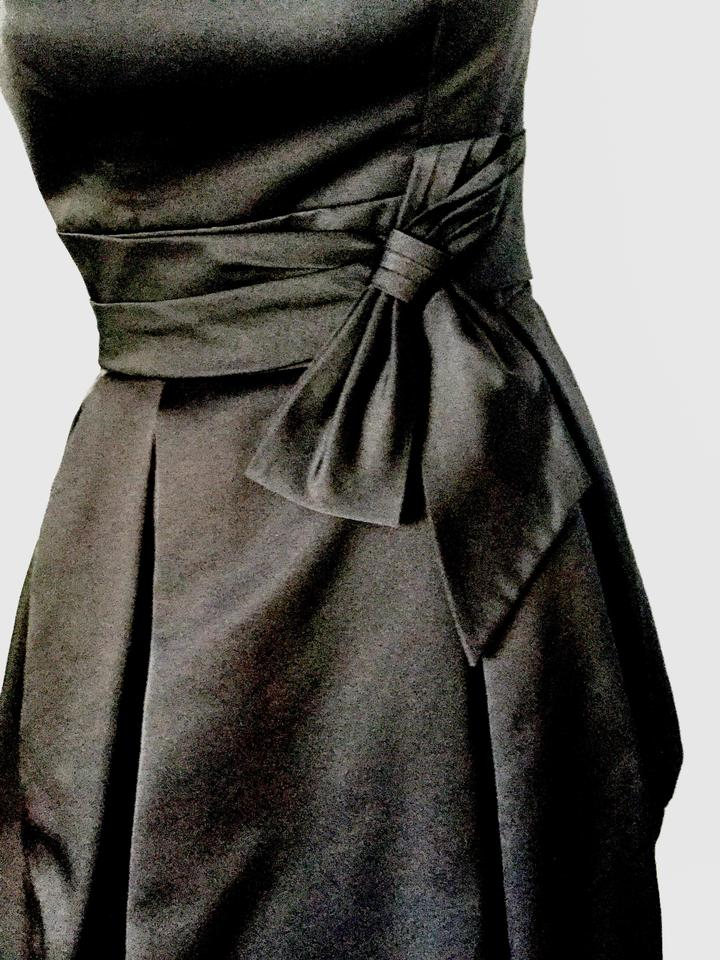 Black Poofy Pleated Skirt Adjustable Built In Bra Evening Above
