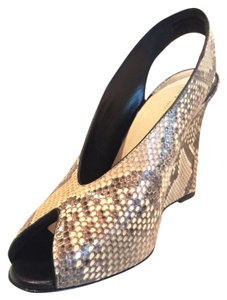 Céline Wedge snake skin python Wedges