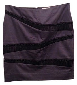 Reiss Mini Skirt Purple & Black