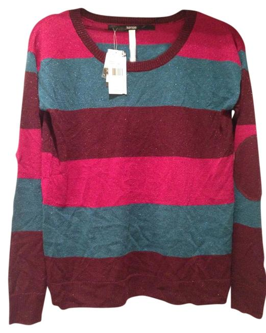 Kensie Stripes Glitter Back To School Spring Sweater
