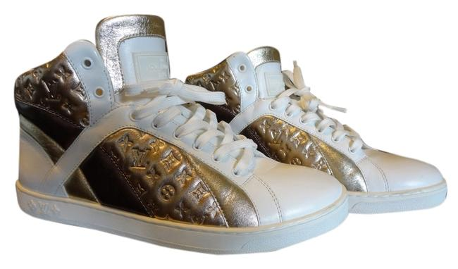 Item - White with Rose Gold White Gold and Bronze Sneakers Size US 6 Regular (M, B)