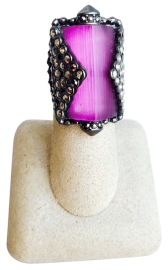Preload https://img-static.tradesy.com/item/7489441/alexis-bittar-purple-lucite-and-crystal-size-65-ring-0-1-540-540.jpg