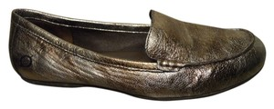 Børn Leather Metallic gold & brown Flats