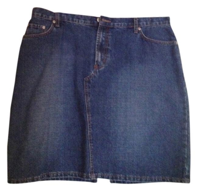 ZENA JEANS Mini Skirt Denim Blue