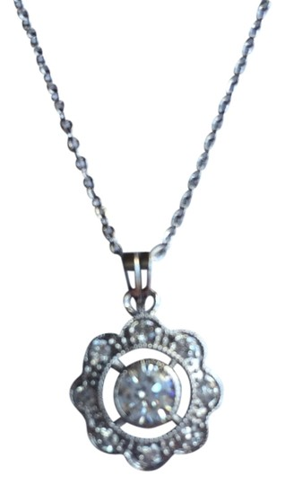 "CZ Necklace Cubic Zirconia ""Flower"" Necklace"