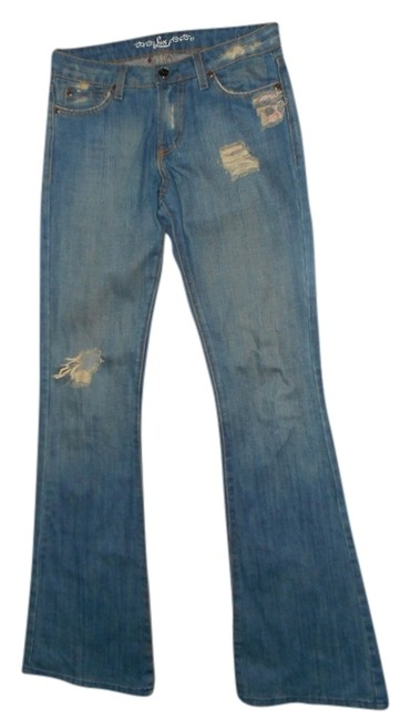 Preload https://item4.tradesy.com/images/lux-blue-distressed-flare-leg-jeans-size-27-4-s-749328-0-0.jpg?width=400&height=650