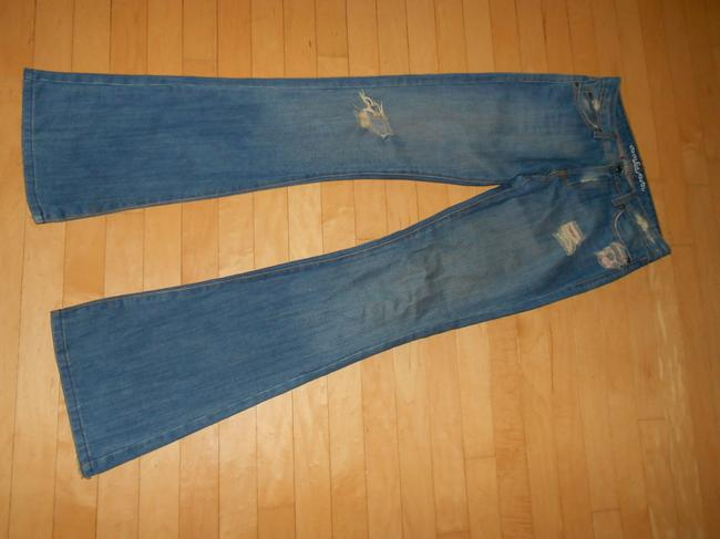 Lux Distress Size 27 Flare Leg Jeans-Distressed