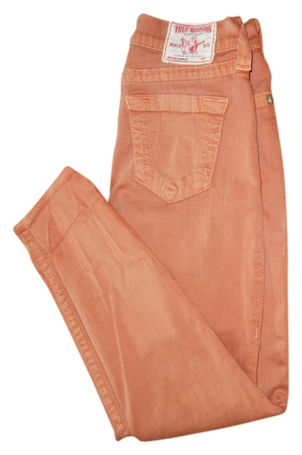 Item - Peach Light Wash Colored Straight Leg Jeans Size 27 (4, S)