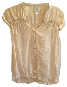 Ann Taylor LOFT Button Down Shirt Light peach