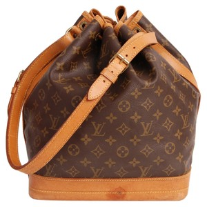 Louis Vuitton Leather Noe Tote in Browns