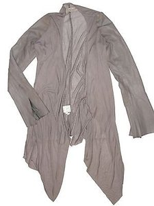 Rick Owens Mauve Viscose Kangaroo Leather Split Sleeve Cardigan Taupe Jacket