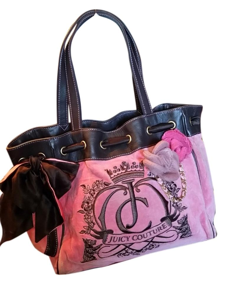 juicy couture pink and brown tote bag totes on sale. Black Bedroom Furniture Sets. Home Design Ideas