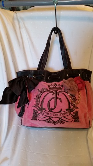 Juicy Couture Tote in Pink and Brown Image 2
