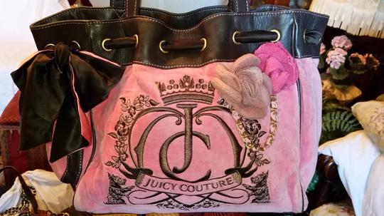 Juicy Couture Tote in Pink and Brown Image 4