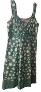 Boden short dress Teal White Polka Dot Summer on Tradesy