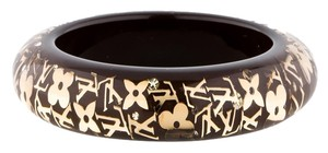 Louis Vuitton Opaque resin Louis Vuitton Wide Inclusion gold LV monogram bracelet New