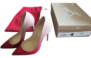 Christian Louboutin Red-Nude Ombre Pumps