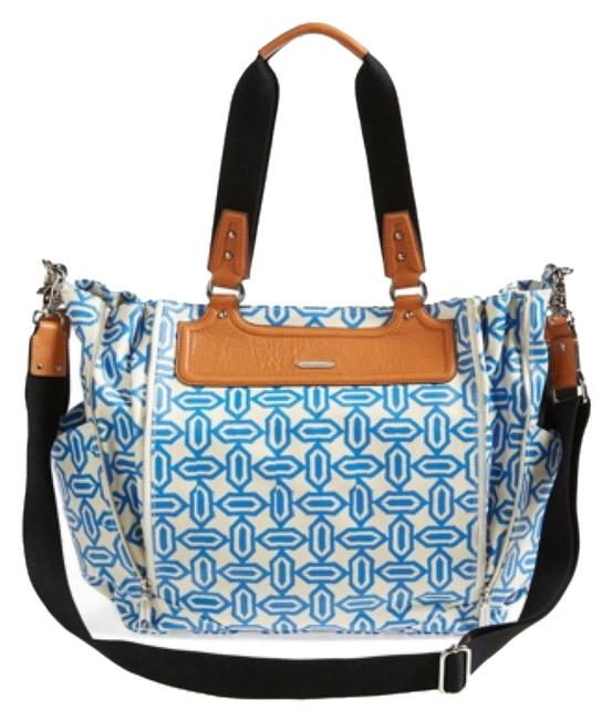 Item - Blue & White Coated Canvas Diaper Bag