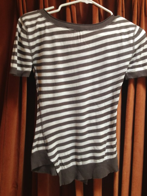 Autumn Cashmere Soft Asymmetrical Nordstrom T Shirt grey and white stripe