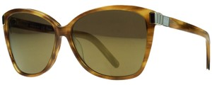 Chloé Chloe Striped Brown Square Sunglasses