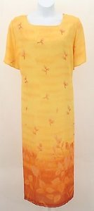 Yellow Orange Maxi Dress by Other Saint Tropez West Ii 24wp Floral Ss Long B268