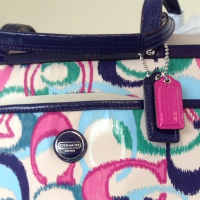 Coach Pink, Blue, Green Diaper Bag