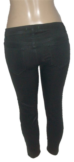 Item - Glazed Olive Green Coated Coat Forst Stretch 98% Cotton 2% Spandex Crop Skinny Jeans Size 29 (6, M)